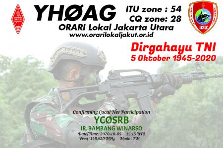 QSL card Hari TNI